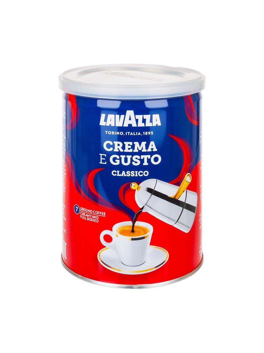 Кофе Lavazza (Лавацца) молотый Crema e Gusto ж/б
