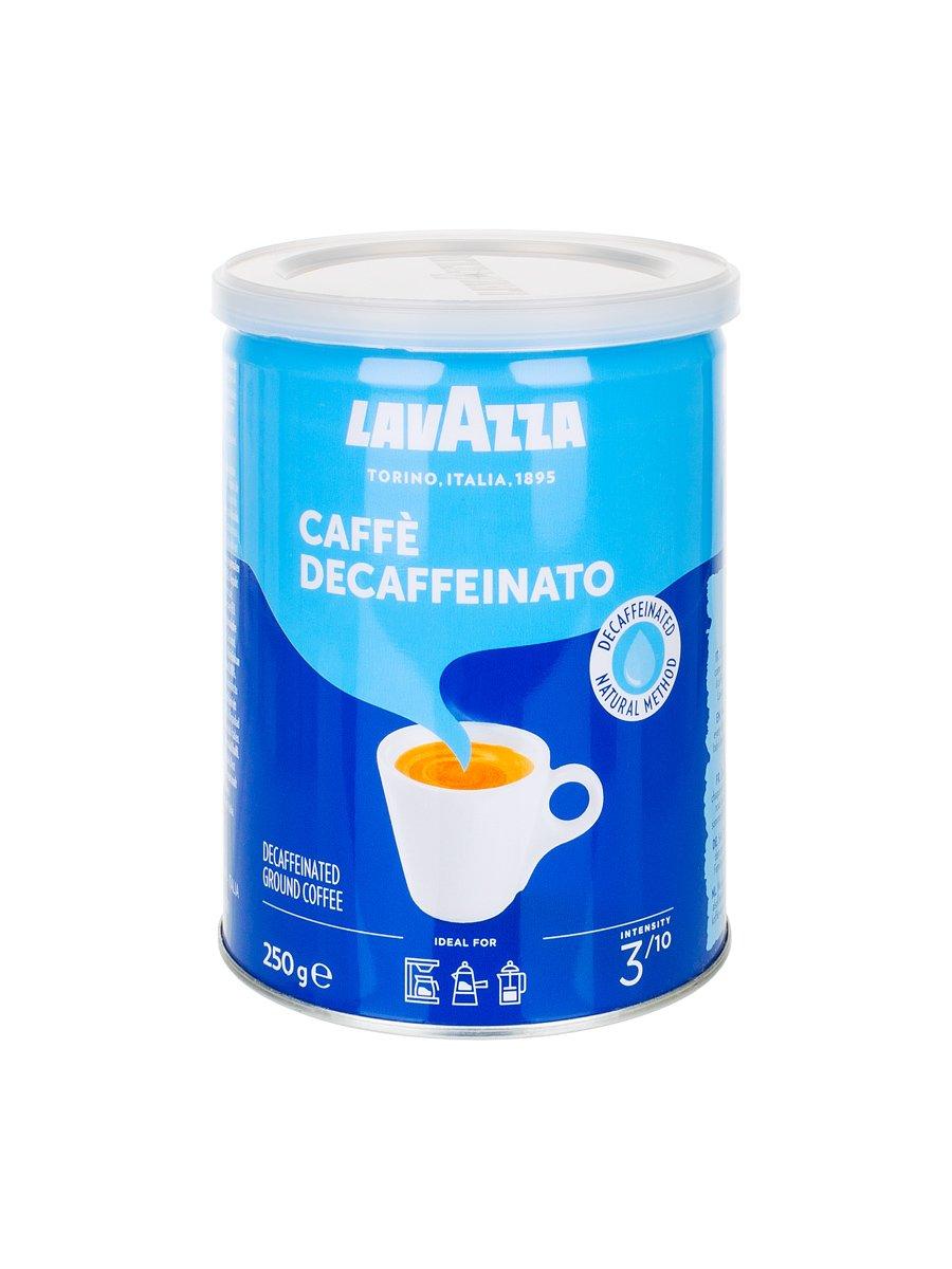 Кофе Lavazza (Лавацца) молотый Dek ж/б