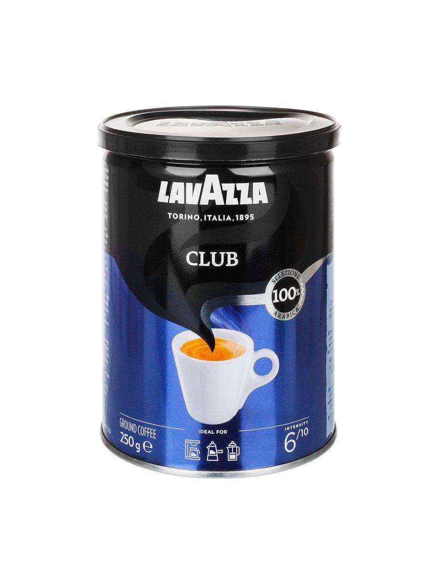 Кофе Lavazza (Лавацца) молотый Club ж/б