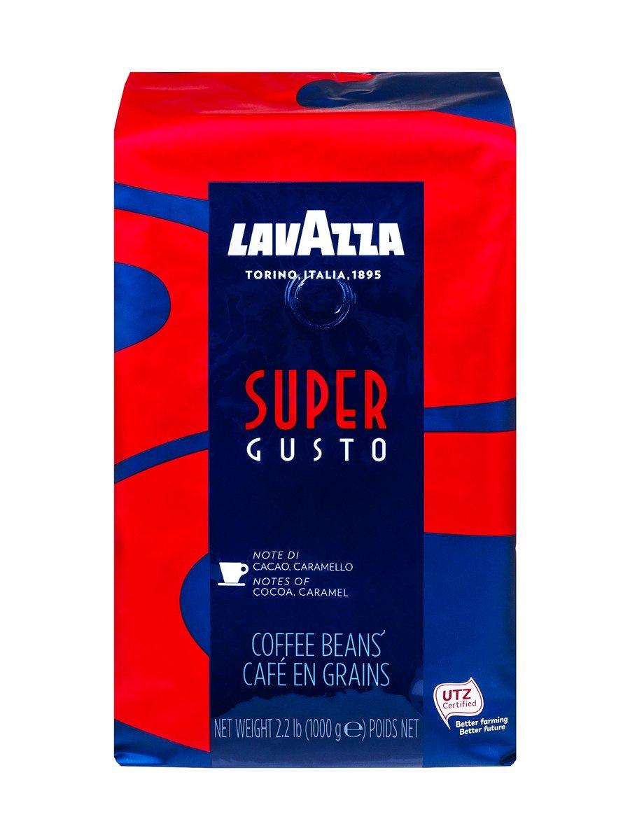Кофе Lavazza (Лавацца) в зернах Super Gusto
