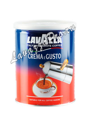 Кофе Lavazza молотый Crema e Gusto 250 гр ж/б